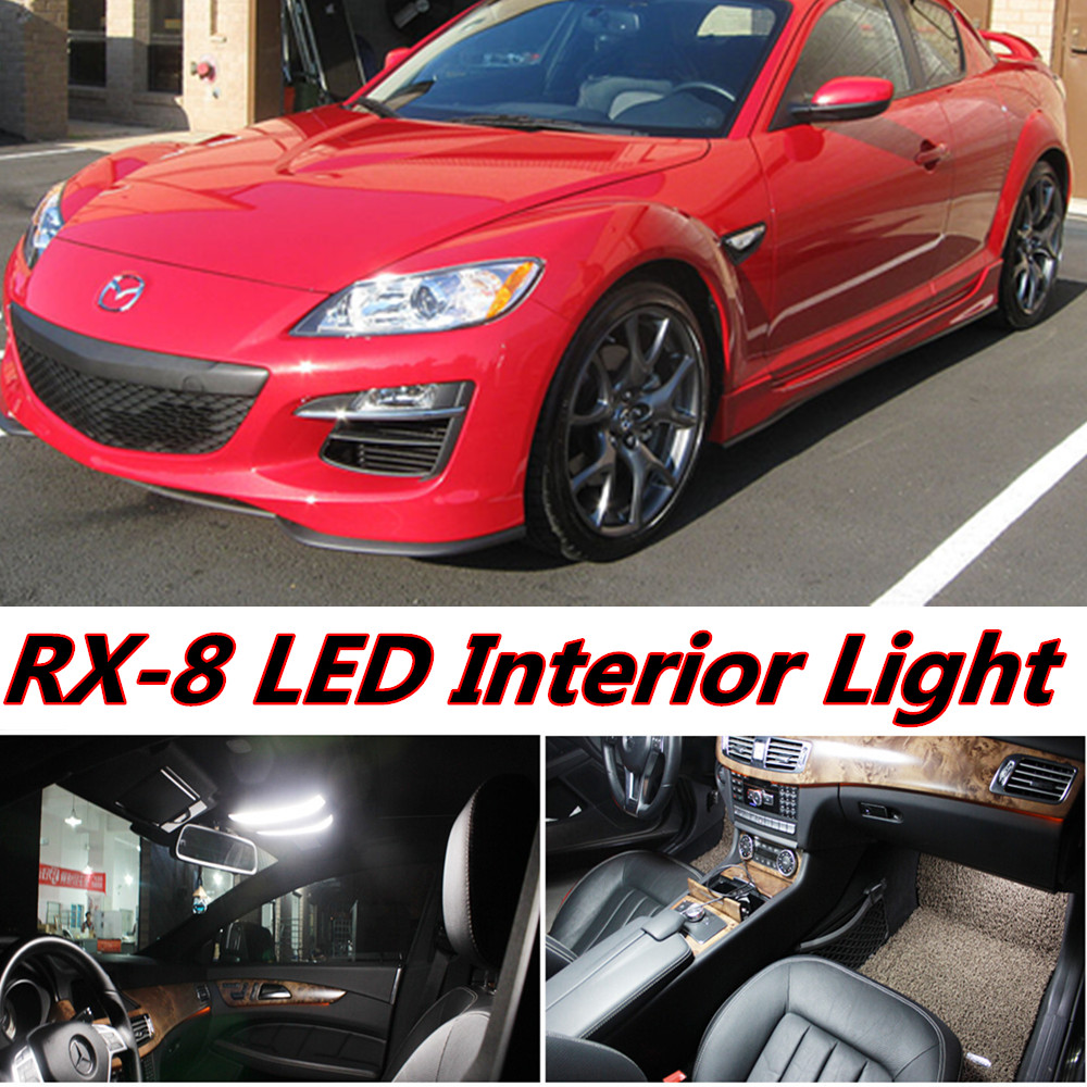 4pcs X free shipping Error Free LED Interior Light Kit Package for Mazda RX8 RX-8 accessories 2004-2013 free shipping new arrival 35pcs pack 2m pcs led aluminum profile for led strips with milky or transparent cover and accessories
