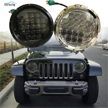 75W 7inch LED Headlight E9/DOT/EMARK Approved Off Road With High/Low Beam For Jeep JK TJ CJ