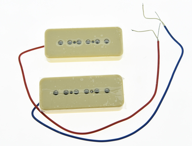 KAISH Cream P90 High Power Sound Neck&Bridge Pickup Single Coil Soapbar Pickups Set niko 50pcs chrome single coil pickup screws