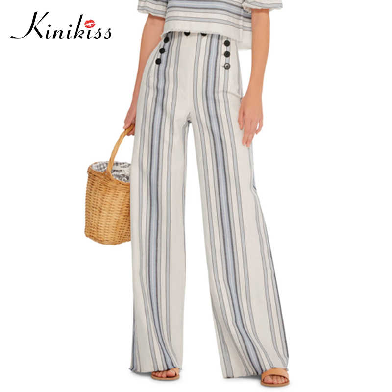 ac5c3ff1b6e Kinikiss Autumn 2018 Autumn Fashion High Waist Wide Leg Pants Female Plus  Size pants Loose Casual