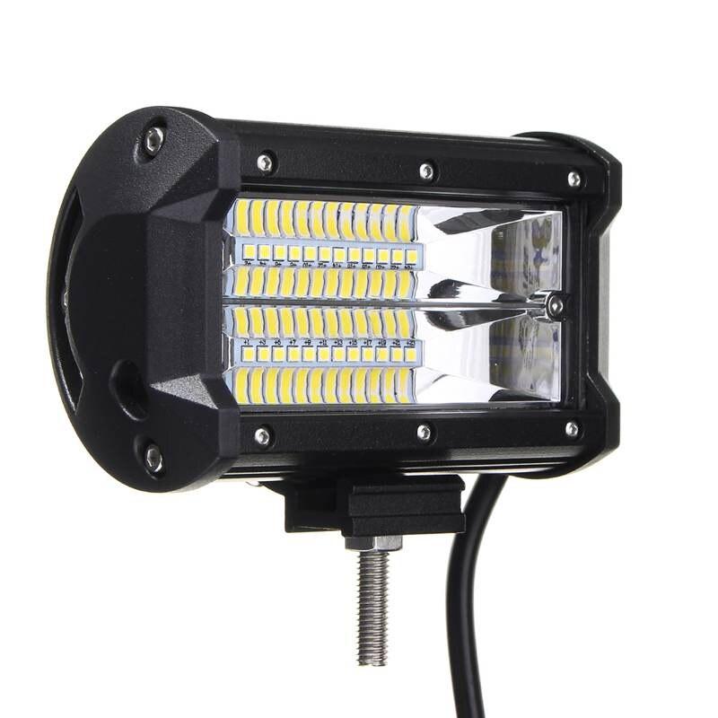 5 Inch LED Car Work Lights 72W LED Work Light Bar Flood Lamp Driving Off Roads For Boat Truck DC10-30V Waterproof IP67 waterproof 72w 4300lm 6000k 24 led white light car work project diy light bar dc 10 30v