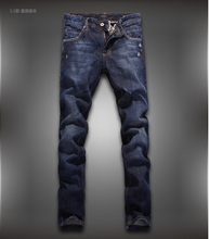 Free shipping High Quality New 2015 Men's Straight Cotton Slim Fit  Men Jeans Fashion Casual Jeans Distressed Jeans 28-36
