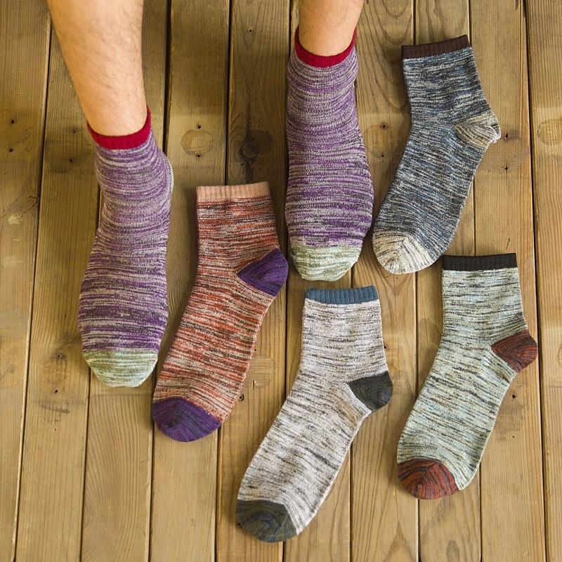 85d5842a923f Men's National Wind Socks Winter Funky Male Business Warm In Tube Socks New Cotton  Socks Retro