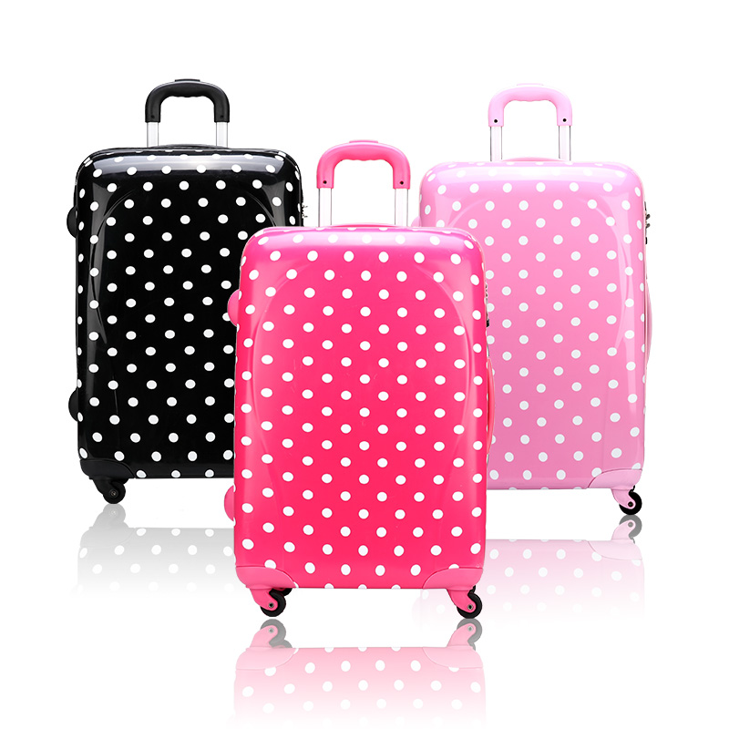 Free Shipping Female luggage trolley luggage polka dot 20.24 ...