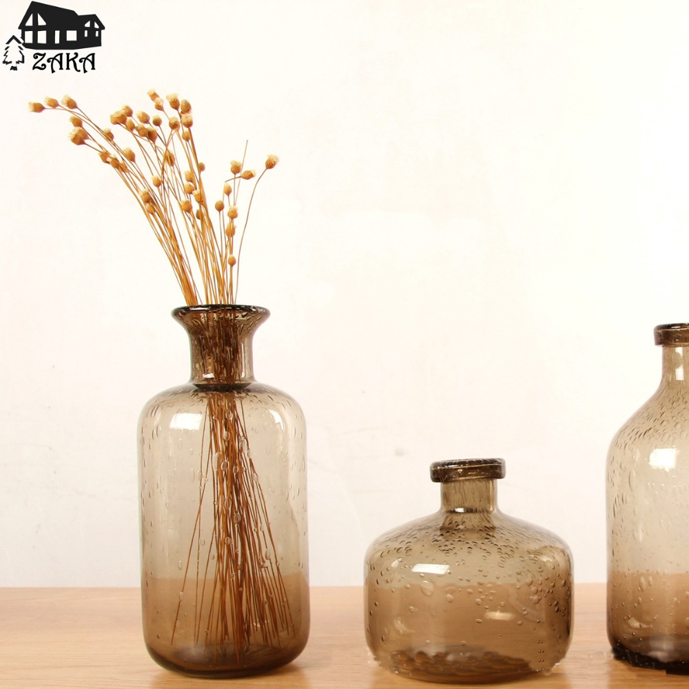 Aliexpress.com : Buy 1Pcs New KEYAMANordic Marine Style Brown Bubble Glass  Vases Hand Blown Flower Vases Bedroom Table Vase Simple Home Decoration  From ...