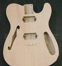 Free shipping  F hole TL ASH  guitar body   no painting spruce top цены
