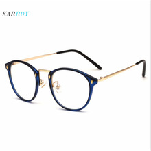 2019 Retro TR90 Metal Optical Frames For Women Fashion  Plain Glasses Unisex Men Myopia Glassses