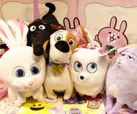 1 set/6 pieces Anime Cartoon Animal Duke Max Snowball Gidget Cat Buddy Dog Rabbit Plush Toy Dolls Collectible Gift Cartoon Movie