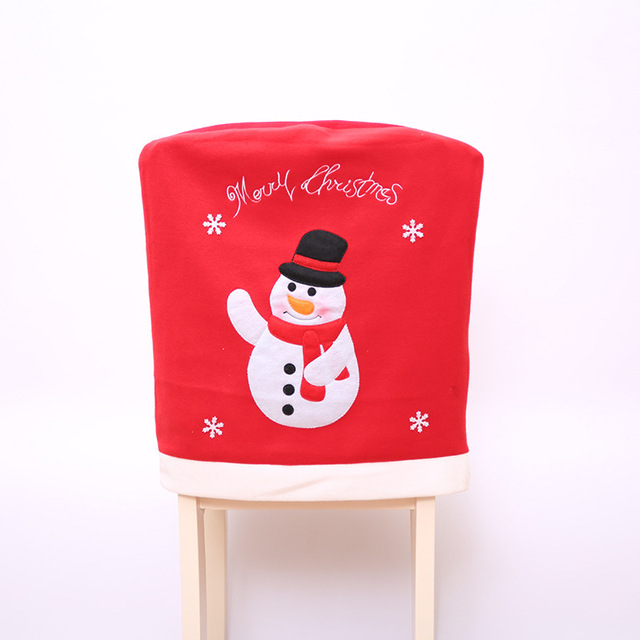 Christmas Decoration Santa Chair Covers Christmas Red Hat Party Dinner  Table Decor Kids Gift