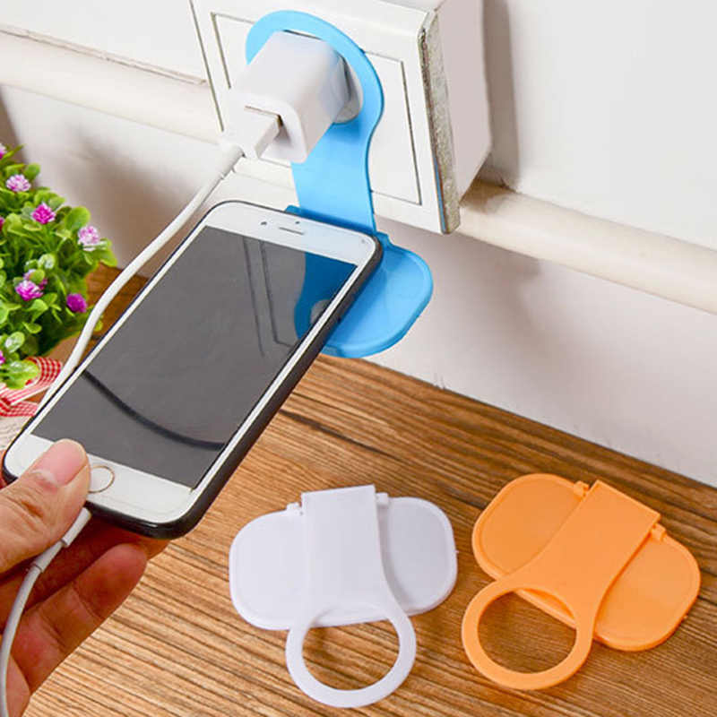 Holder Hangs Charger Charging Rack For Mobile Phone Random color Delivery