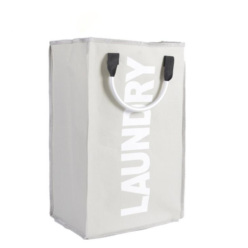 Black Oxford Laundry Bag Foldable Aluminum Handle Laundry Printed Baskets for Washing Clothes Home Storage Package