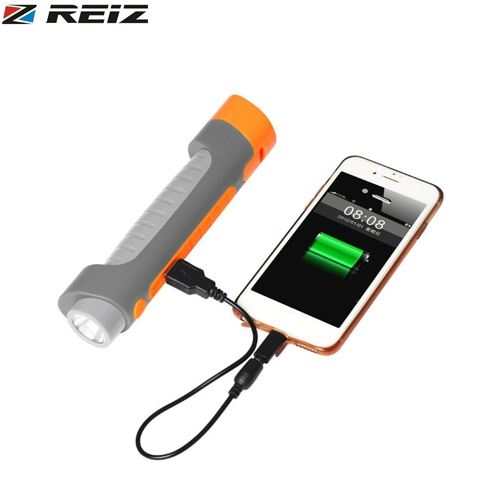 REIZ 4-in-1 Multi-Function Car Safety Hammer USB Rechargeable Power Bank Emergency Lifesaving Hammer LED Flashlight With Whistle sanwa button and joystick use in video game console with multi games 520 in 1