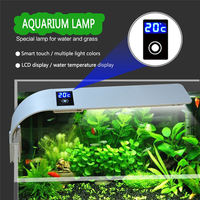 15W Aquarium Grow Led Lighting Fishbowl Light Fixtures Lamp For Aquarium Fish Tank Lantern Luminary With Thermometer