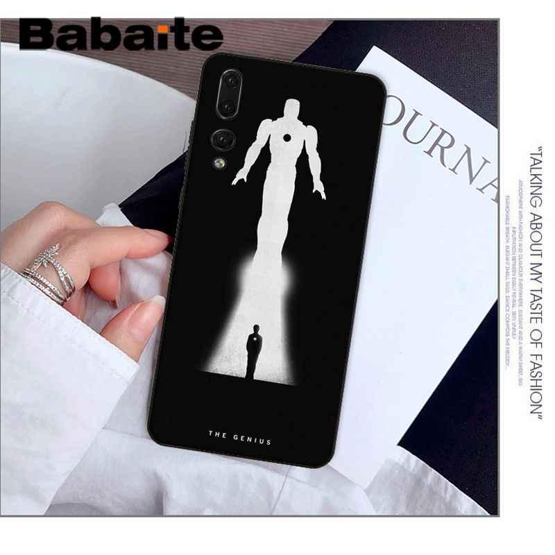 Babaute Marvel Железный человек черный мягкий чехол для телефона из ТПУ чехол для huawei Mate10 Lite P20 Pro P9 P10 Plus Mate9 10 Honor 9 10 View 10