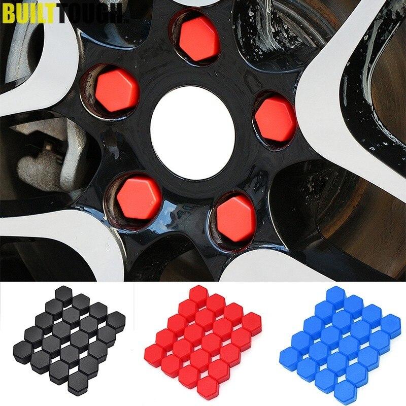 Tickas 17Mm Wheel Bolt Covers,20pcs Universal 17mm Wheel Nut Covers Lug Nut Caps Screw Protector
