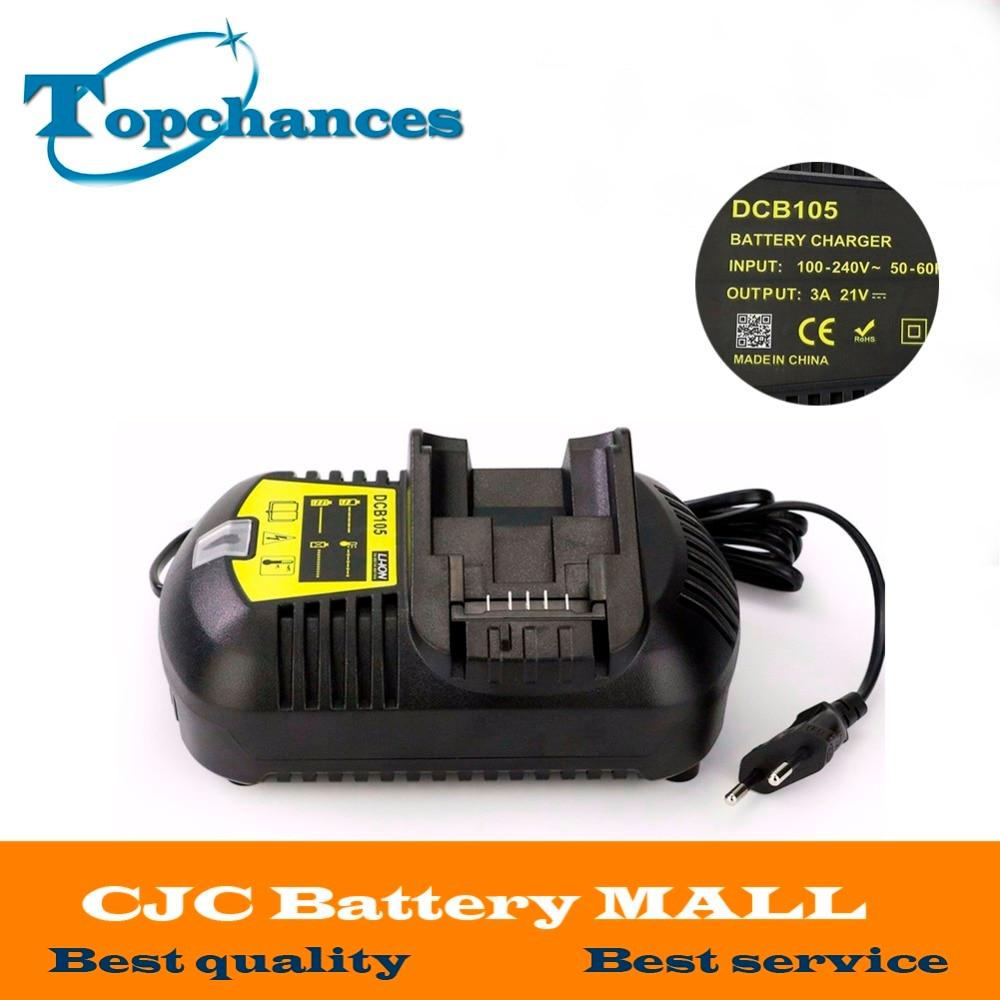Fast Charger For Dewalt 10.8V 12V 14.4V 20V MAX Li-ion Battery DCB105 DCB101 DCB120/DCB203/DCB200/DCB201/DCB204/DCB180/DCB182 melasta 20v 4000mah lithiun ion battery charger for dewalt dcb200 dcb204 2 dcb180 dcb181 dcb182 dcb203 dcb201 dcb201 2 dcd740