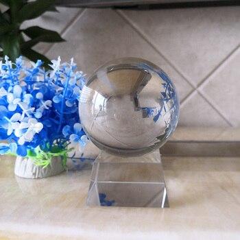 Â�リアレンズボール写真プロップクリスタルボール 80 Ã�リメートル K9 Â�リスタルガラスの装飾グローブ瞑想治癒魔法風水風水球