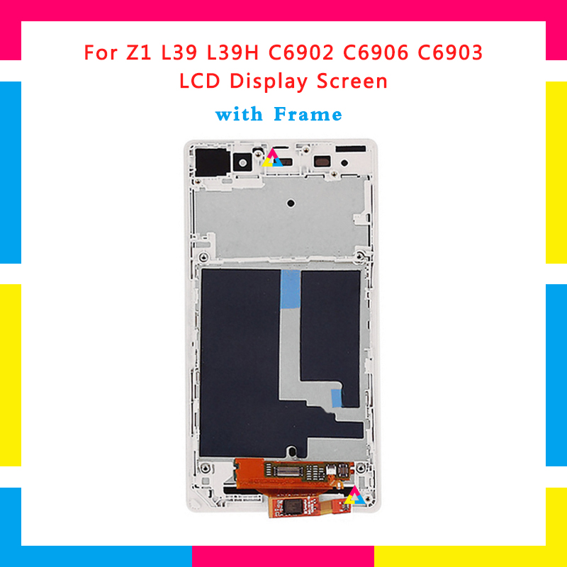 5pcs LCD Display Screen With Touch Screen Digitizer Assembly For Sony Xperia Z1 L39H C6902 C6903 Replacement
