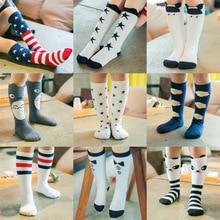 New 1-6 Years Children's Socks Fashion Creative Cartoon Animal Baby Stripes Hosiery Boy Girl Pure Cotton Leg Warmers Long Socks