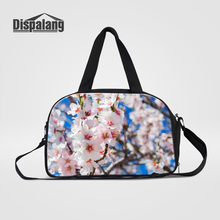 Dispalang Women's Luggage Duffle Bags Cherry Blossoms Printing Travel Handbags Baggage Bag Carteras Mujer De Hombro Weekend Bags