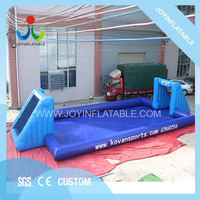 14 * 7M Sealed Outdoor Game Inflatable Soap Football Field Inflatable Sports Playground Customized Giant Soap Soccer