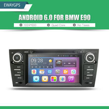 Quad Core Android 6.0 Car DVD Player Stereo For BMW E90 1024*600 NO TAX Bluetooth gps navigation Wifi Steering Wheel EW803P6QH