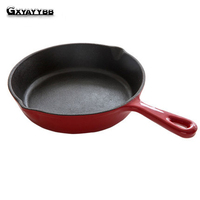 20 cm Black Mini Not Sticky Casting Iron Pan Stone Layer Frying Pot Saucepan Small Fried Egg Pot Use Gas And Induction Cooker