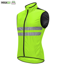 WOSAWE Cycling Reflective Vest High Visibility Off-Road Racing Night Riding Jacket Running motorcycle Bicycle Safety