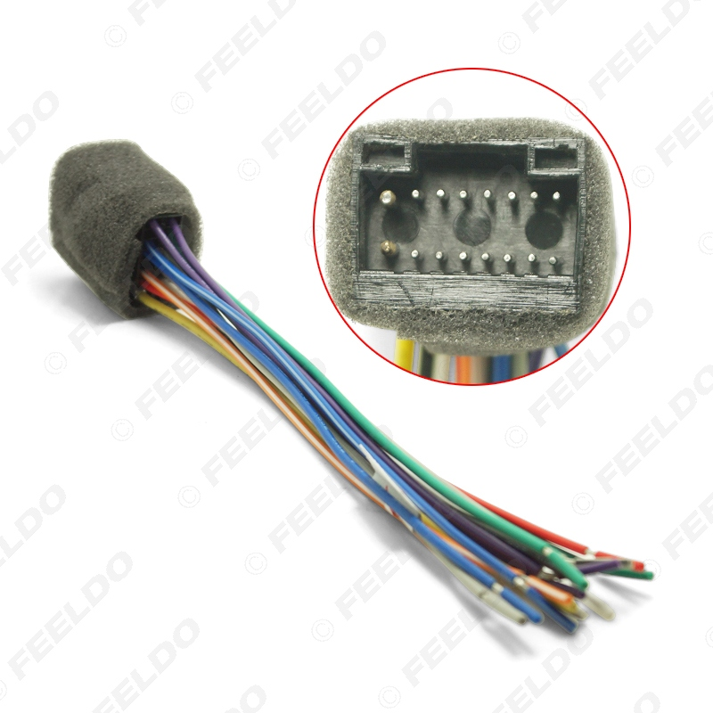 feeldo car radio stereo wire harness plug cable for kenwood 16pin female  connector adapter#1606-in cables, adapters & sockets from automobiles &  motorcycles