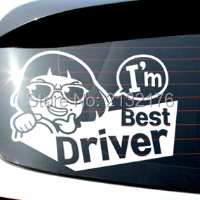 Aliexpresscom  Buy Im Best Driver Car Sticker Car Decal - Funny decal stickers for cars
