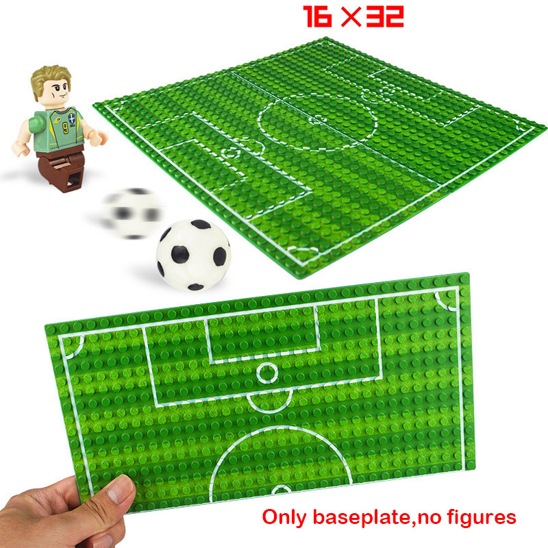 32*16 Football Field Baseplate Basketball Court Baseplate Building Blocks Parts Bricks Base Plate Compatible Classic Figure