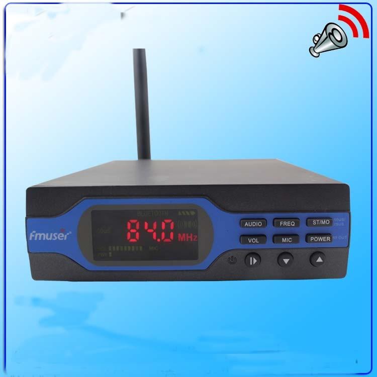 NEW FU-X01BK 1w πομπός ραδιοφωνικής μετάδοσης FM PLL με μονάδα Bluetooth + κεραία από καουτσούκ + τροφοδοτικό KIT