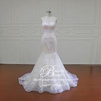 Vestidos De Noiva Sereia Custom Made Bridal Gowns Lace Appliques Luxury Mermaid Wedding Dresses XF16011