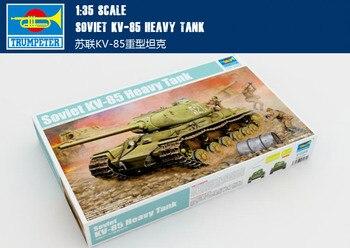Trumpet 01569 1:35 World War II Soviet KV-1S/85 heavy tank  Assembly model