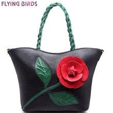 Flying birds! 2016 frauen leder handtasche berühmte marken blume retro frauen bag damen hohe qualität handtasche luxus bolsos LS4993fb