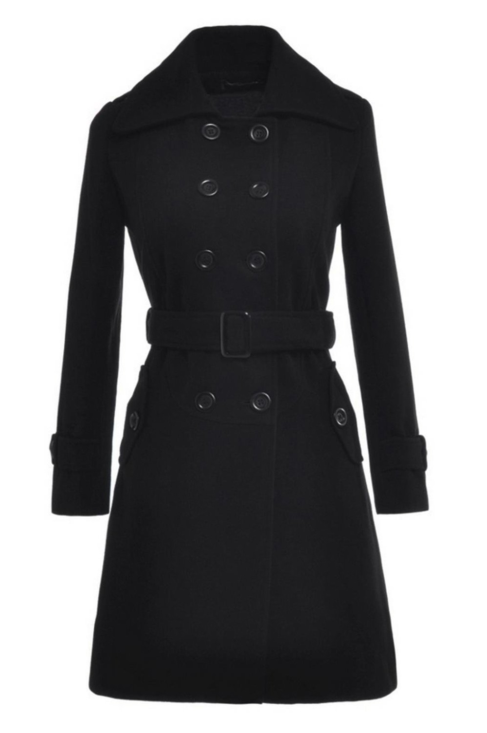 font b Women s b font Slim Double Breasted Coat Woolen font b Jacket b