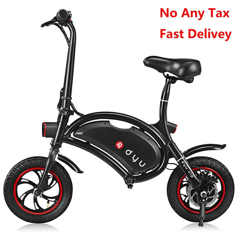 F-wheel DYU D1 vélo électrique 12 pouces roues 10Ah vélo électrique pliant intelligent 40 km Super Long kilométrage E vélo de luxe Version EU