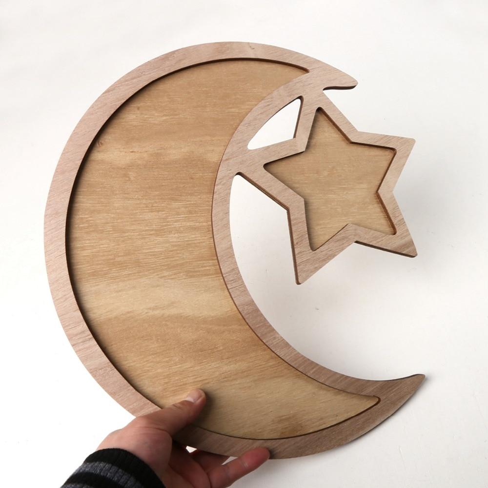 Wooden EID MUBARAK Ramadan Decoration Islamic Ramadan And Eid Decorations For food Eid Al Adha EID Muslim decor Ramadan Gift