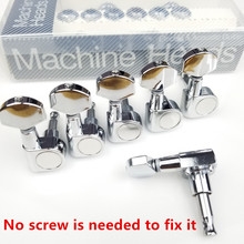Chrome Silver Electric Guitar Machine Heads Tuners no screws Tuning Pegs J-802 Made in Korea ( With packaging ) antique black electric guitar machine heads tuners for st or tl tuning pegs j 07 antique color with packaging