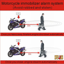 6~ 12 В 2 года гарантии RFID пульт дистанционного управления мотоциклетная сигнализация Система иммобилайзера двигателя