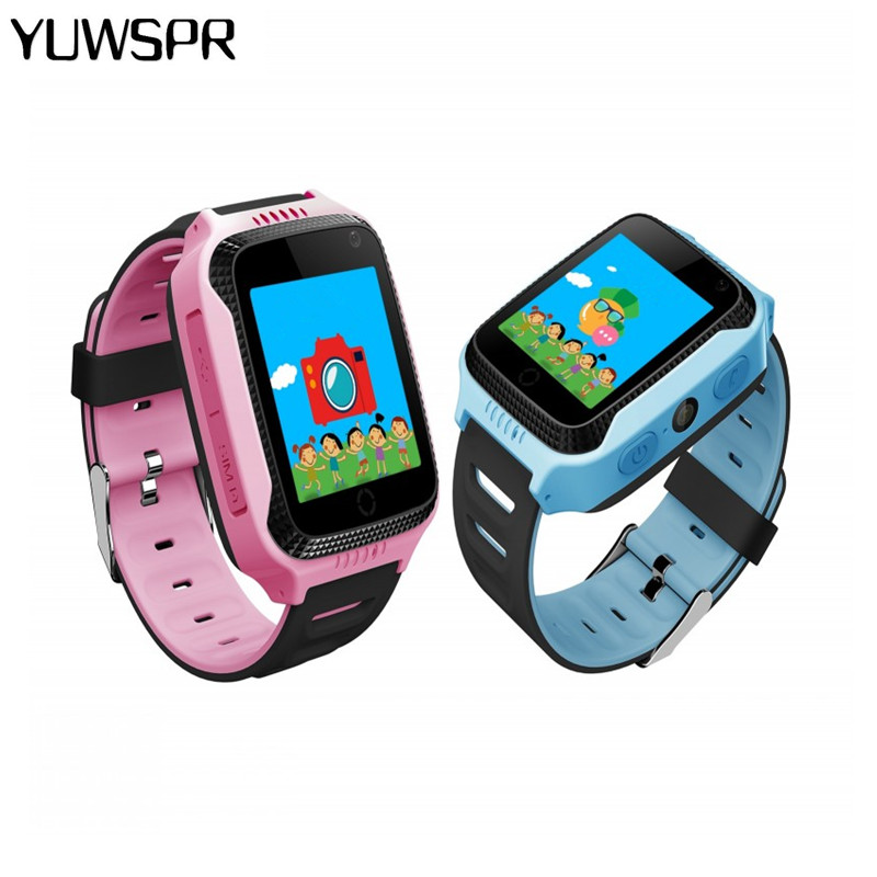 Buy gps tracker kids watch y21 flashlight camera children watches touch screen for Watches with gps
