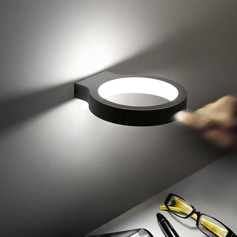Modern Indoor Home Decorative Sconce Led Wall Lamp living room Light 110V-220V 15W White Warm White Office Aisle lights