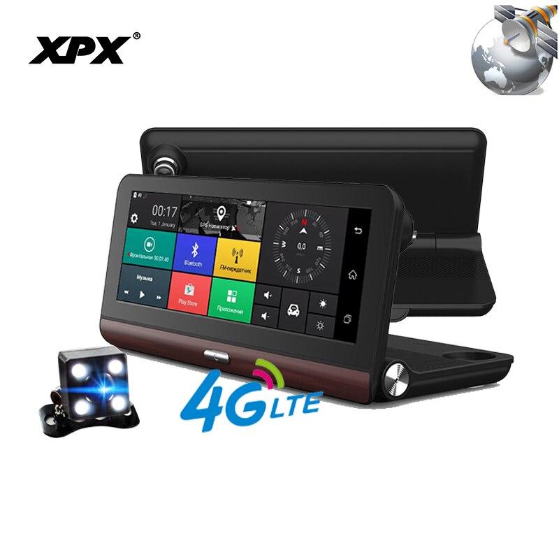 DVR XPX ZX878 Dash cam Videocamera vista posteriore Auto dvr 3 in 1 Radar DVR GPS Full HD 1080 p Dashcam Radar rivelatore della Macchina fotografica