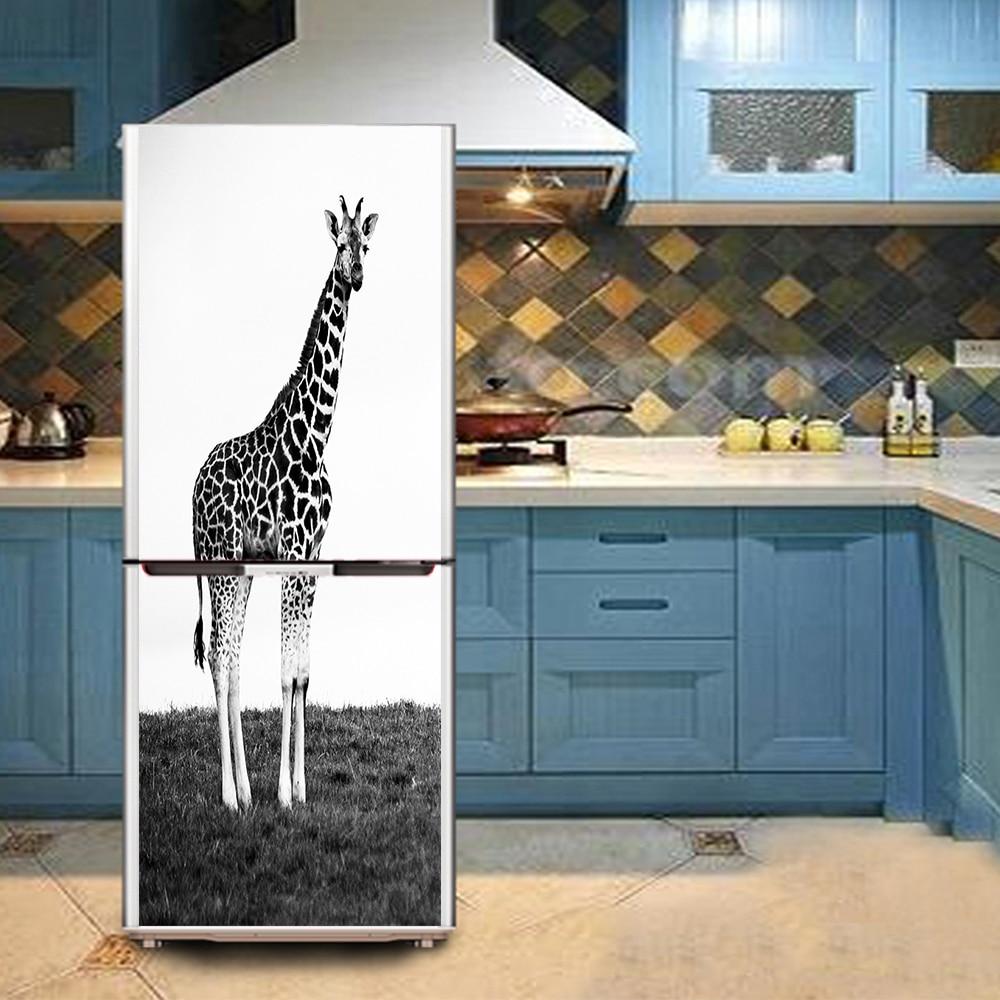 Yazi hd printed giraffe pvc waterproof self adhesive refrigerator yazi hd printed giraffe pvc waterproof self adhesive refrigerator sticker fridge door cover wallpaper wall sticker in underwear from mother kids on amipublicfo Gallery