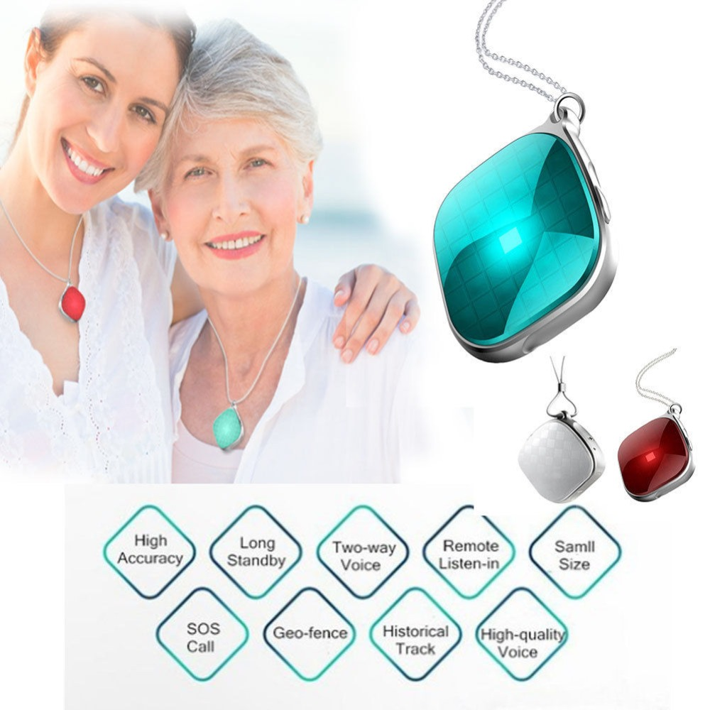 Gps Car Tracker >> Mini A9 GPS Tracker Necklace SOS Call Remote Voice Monitor GPS WiFI LBS Real Time Tracking for ...