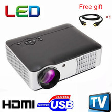 Hot selling 200inch big screen wifi HD digtial video LED Multimedia Projector With HDMI /USB /TV /VGA Perfect For Home Theater