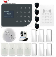Yobang Security Russian Spanish English WIFI GSM 3G Alarm System Security Home GSM Alarm System APP Control Alarm DIY Kit