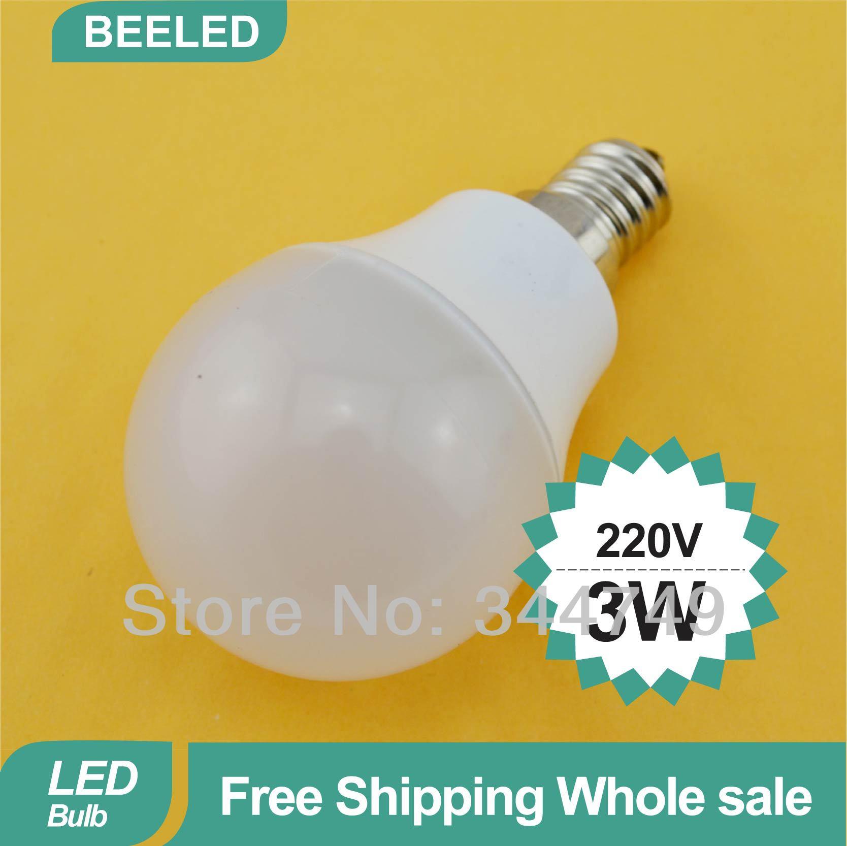 E14 AC220V 240VCool/Warm White 10PCS/lot Light Bulb 2W Freeshipping China Post 2835 SMD High Quality Epistar chip LED Bulb Lamp