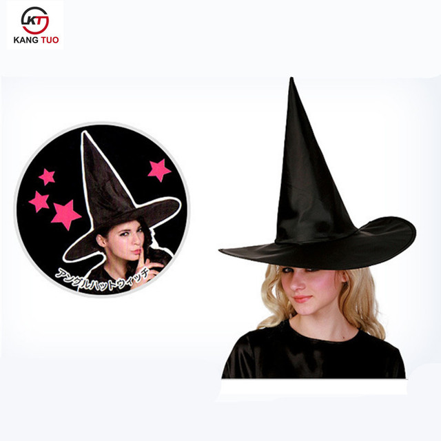 f001b40cfaf 10PCS Set Halloween Witch Accessories Sorcerer Cap Harry Hat Black Spire  Oxford Hat Anime Cosplay