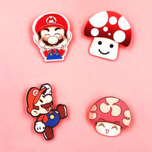 1 Pcs Jamur Ikon Pin Kawaii Super Mario Bros Akrilik Bros Mini Lencana Pin Ransel Pakaian Dekorasi Bros(China)